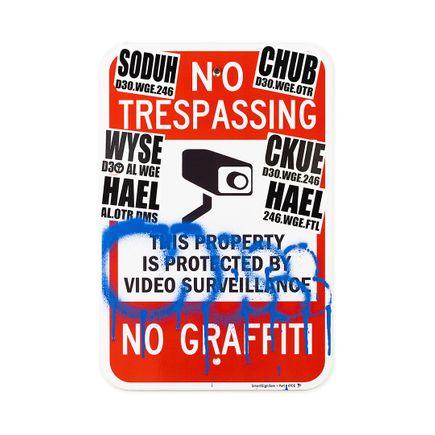 Hael Original Art - No Trespassing No Graffiti - IV