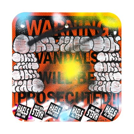 Hael Original Art - Vandals Will Be Prosecuted - VII - 12 x 12 Inches