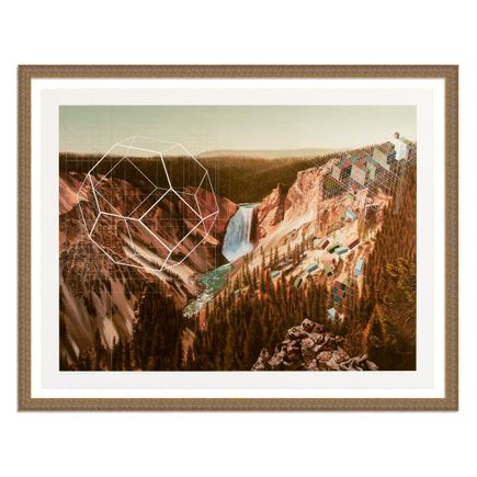 Mary Iverson Art Print - 15 of 20 - Yellowstone Falls - Hand-Embellished Edition
