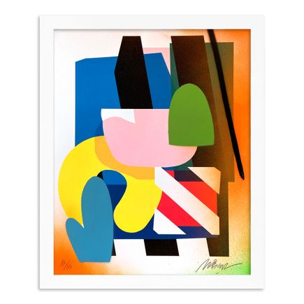 Maser Art Print - 15 of 15 - Stacked Forms 002 - Hand-Embellished Edition
