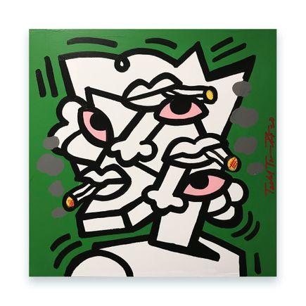 Sheefy Original Art - Medium Green Study - 18 x 18 Inches - Original Artwork