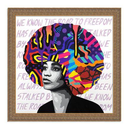 Dina Saadi Art Print - Angela - Road To Freedom - I
