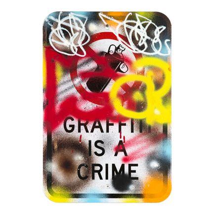 Hael Original Art - Graffiti Is a Crime - V2 - IV