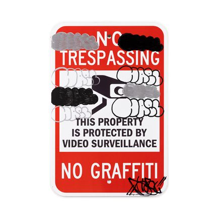 Hael Original Art - No Trespassing No Graffiti - II