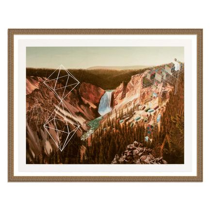 Mary Iverson Art Print - 16 of 20 - Yellowstone Falls - Hand-Embellished Edition