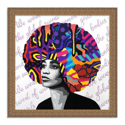 Dina Saadi Art Print - Angela - We Wear The Global Sweat - I