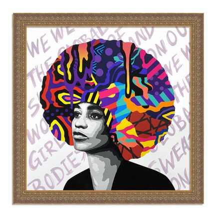 Dina Saadi Art Print - Angela - We Wear The Global Sweat - II