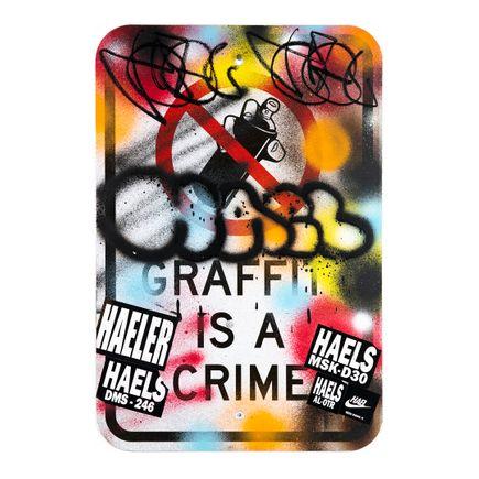 Hael Original Art - Graffiti Is a Crime - V2 - V