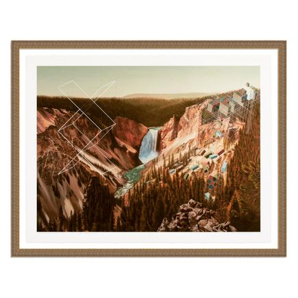 Mary Iverson Art Print - 17 of 20 - Yellowstone Falls - Hand-Embellished Edition