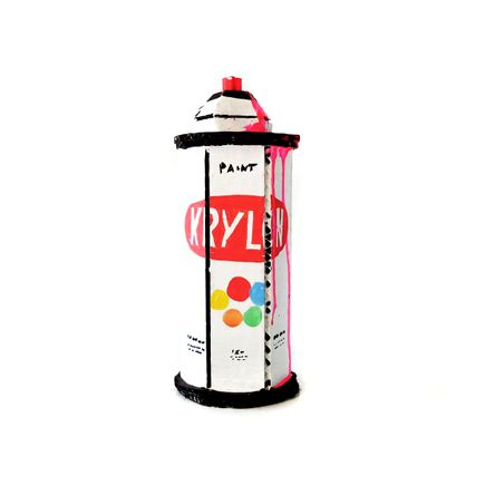 Bill Barminski Original Art - Spray Can - Krylon - Pink III