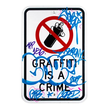 Cope2 Original Art - Graffiti Is A Crime - Variant 2 - VI
