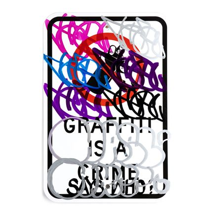 Hael Original Art - Graffiti Is A Crime - Variant 2 - III