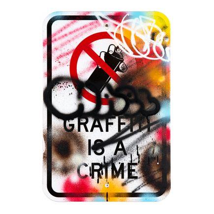 Hael Original Art - Graffiti Is a Crime - V2 - VI