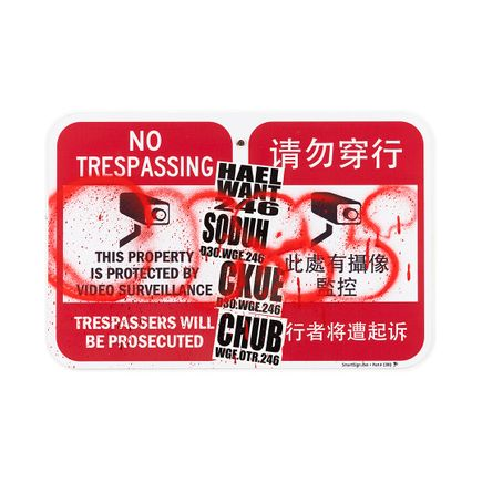 Hael Original Art - Trespassers Will Be Prosecuted En/Ch - I