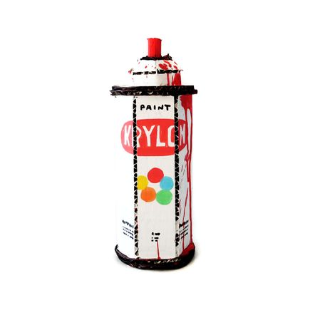 Bill Barminski Original Art - Spray Can - Krylon - Red
