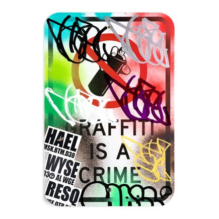 Hael Original Art - Graffiti Is A Crime - Variant 2 - IV
