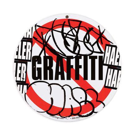 Hael Original Art - No Graffiti Symbol - I - 18 x 18 Inches