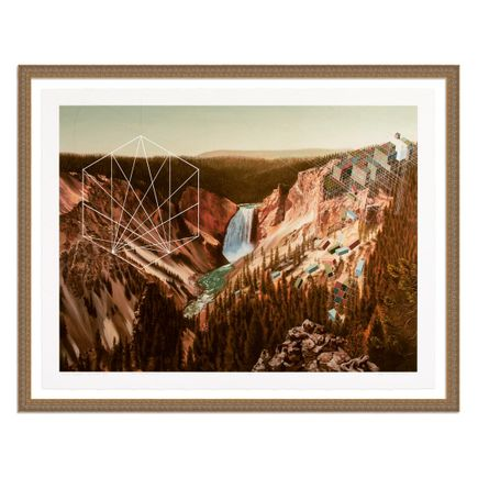Mary Iverson Art Print - 19 of 20 - Yellowstone Falls - Hand-Embellished Edition