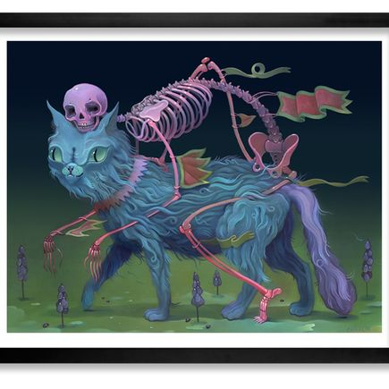 Charlie Immer Art - The Bone Guide - Framed