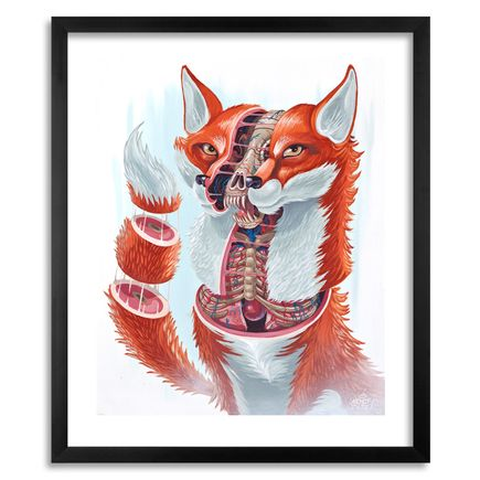 Nychos Art Print - Dissection of a Fox