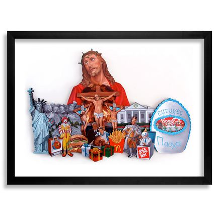 Peter Adamyan Art Print - Archival Print - Painting to a Christian Nation (God Bless This Mess)