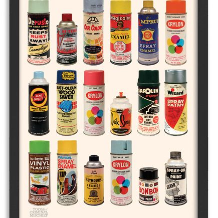 Roger Gastman Art Print - Tools of Criminal Mischief : The Cans III
