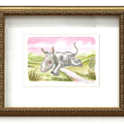 Scott Musgrove Original Art - Some Kind of Rhino - Original Painting