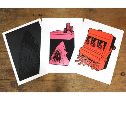 Shark Toof Art Print - Shark Toof Guilty Pleasures 3-Print Set
