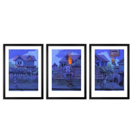 Bezt Art Print - Triptych Midnight Walk