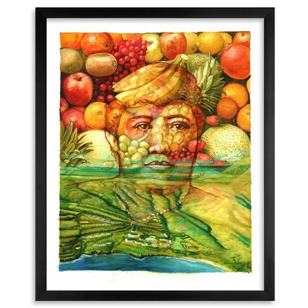 Gaia Art Print - Queen Lili'uokalani and Lanai Island - Standard Edition