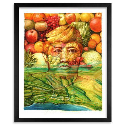 Gaia Art Print - Queen Lili'uokalani and Lanai Island - Hand-Embellished Edition