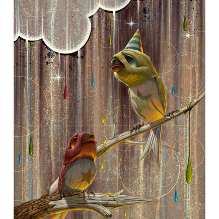 Nathan Ota Art Print - Birds of Play