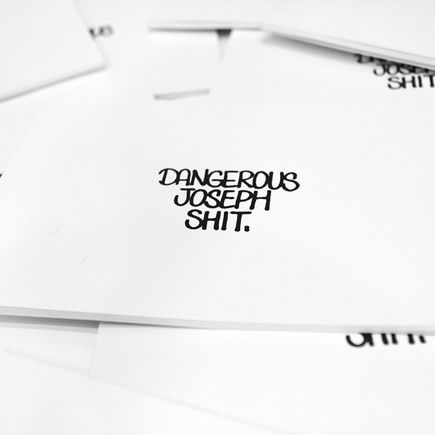 Rime Book - Dangerous Joseph Shit - Limited Edition Zine