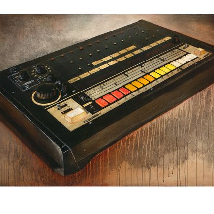 Ron Zakrin Art Print - 808 - Still Life With Drum Machine Edition