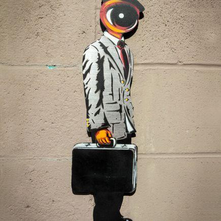 Peat Wollaeger Art - Eye On Bizness Aluminum Edition