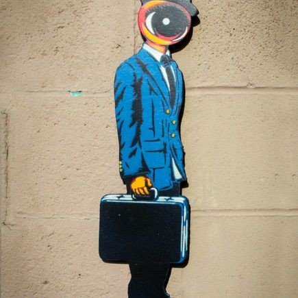 Peat Wollaeger Art - Eye On Bizness - Blue Edition