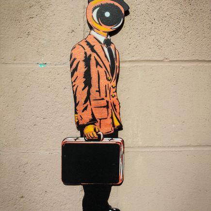 Peat Wollaeger Art - Eye On Bizness - Orange Edition