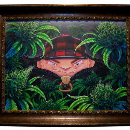 Ian Ziobrowski Original Art - NUGSnNUGGS Original Painting