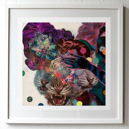 Shark Toof Art Print - -Two Girls & Three Tigers Show-