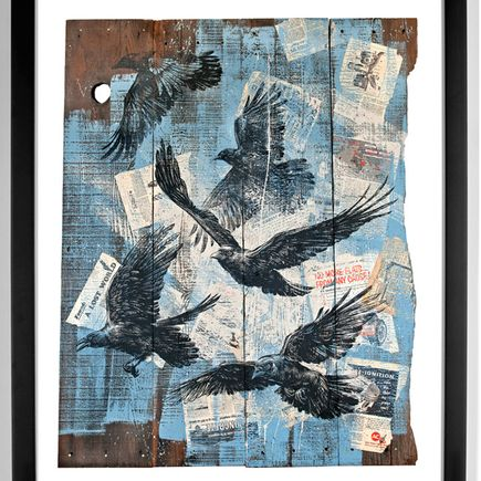 Ben Horton Art - As The Crow Flies - Framed
