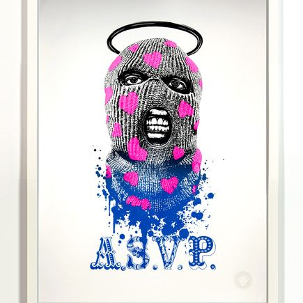 ASVP Art Print - Balaclava - Pink/Metallic Black To Blue Fade Edition