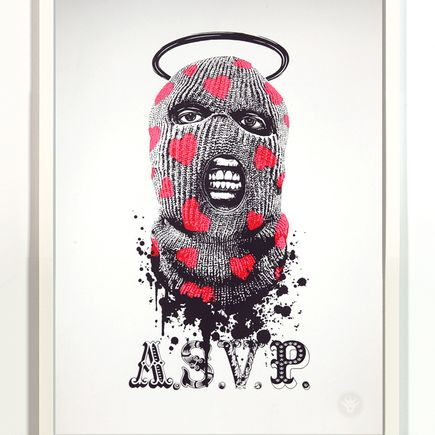 ASVP Art Print - Balaclava - Red/Black 30 Inch Edition