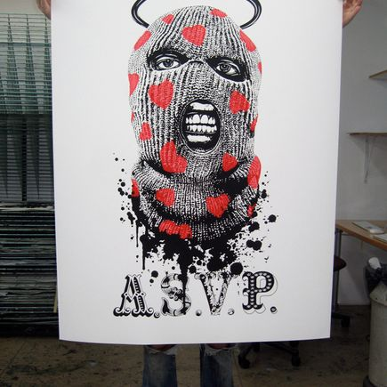 ASVP Art Print - Balaclava - Red & Black 50 Inch Edition