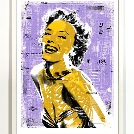 Anthony Cozzi Art Print - Norma - Purple/Yellow Variant