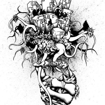 Daryll Peirce Original Art - Original Drawing - The Bad News First...