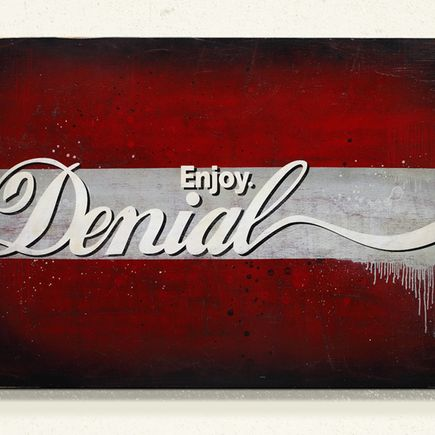 Denial Art - - Enjoy Denial Wood Panel -<br>