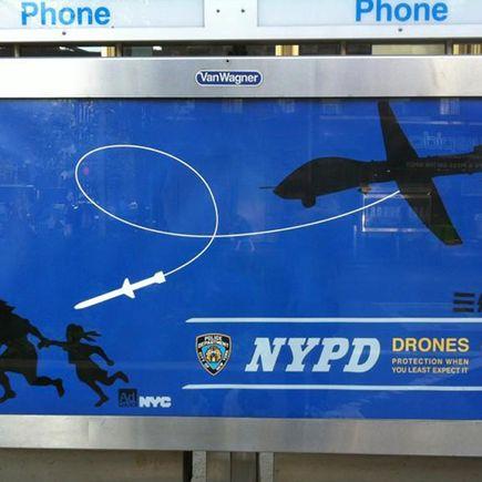 Essam Original Art - Drone Campaign Original Street Poster 1