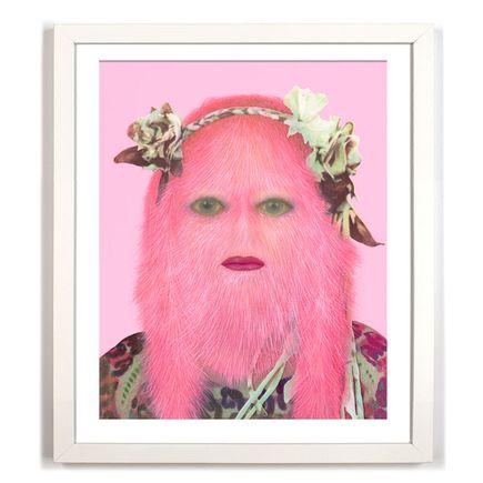 Erik Mark Sandberg Art Print - Girl With Floral Headband