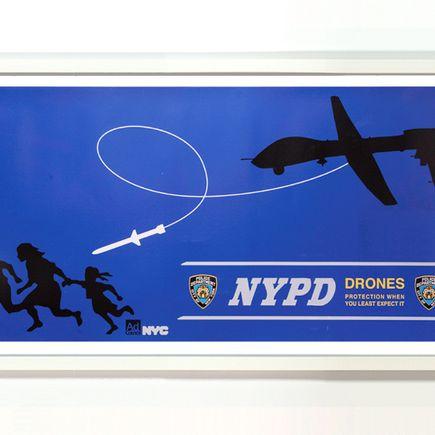 Essam Art - Drone Campaign #1  - Framed