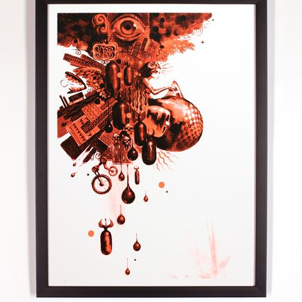 Glenn Barr Art Print - Muse Of The World - Red Edition